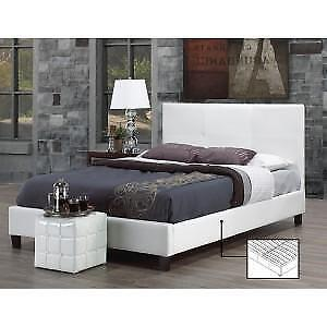 White Bed with Contrast stiching web exclusive deal (IF728)