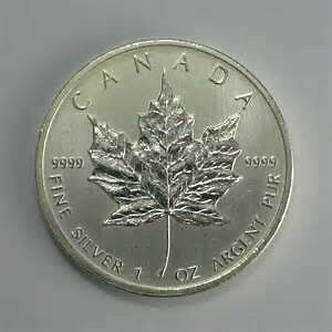 Silver Bullion Maple Leaf Coins, Bars
