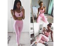 2Pc's Women's Sport Gym Yoga Vest Bra Outfit Wear Set, M