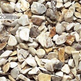 20 mm York cream garden and driveway chips/stones