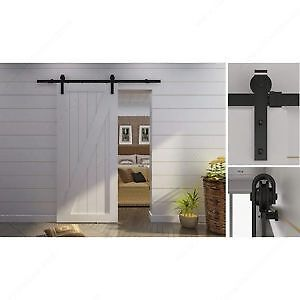 Rustic Sliding Door Hardware Set For Suspended Wooden Door