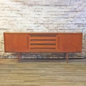Mid Century Danish Teak, Walnut and Rosewood Sideboards