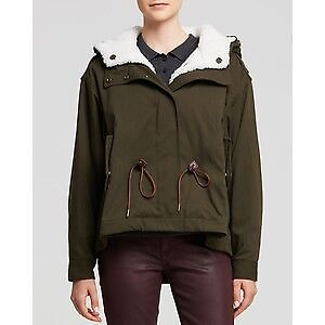 Burberry Brit shearing military coat size US4 - $620