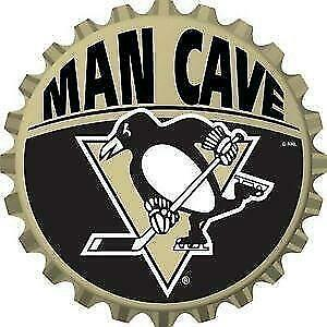 Pittsburgh Penguins Metal Bottle Cap Design Wall Sign (New) Calgary Alberta Preview