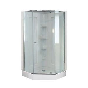 Glass shower panels with glass doors only