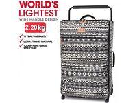 World's Lightest IT extra large suitcase. BRAND NEW. Zig Tribal 2 wheels.