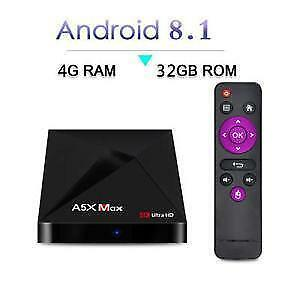 FULL PROGRAMMED ANDROID 8.1 TV BOX IPTV IP TV BOITE TELE KODI 6 MONTH WARRANTY