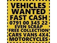 🇬🇧 079100 34522 CAR VAN BIKE WANTED CASH TODAY BUY YOUR SELL MY SCRAP CALL Mot