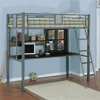 LOFT BUNK BED, DRESSER AND NIGHT TABLE, great condition