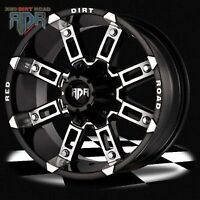 "NEW!! 16, 17 or 18"" Black with Machined HEAVY DUTY RIMS - RD06"