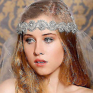 Crystal Wedding Stunning Headbands on Satin Sash! Can be a belt!