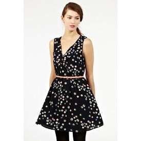 Gorgeous Oasis Dress Navy Size 12 - Only worn once RRP £60