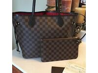 Louis Vuitton Neverfull Designer Women's Handbag Tote Damier Speedy Clutch Purse Wallet Bag