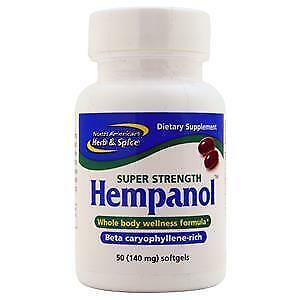 North American Herb & Spice Hempanol Super Strength  50 sgels