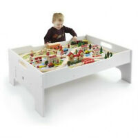 Deluxe Wooden Train Set Table