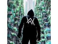 2 x Standing Alan Walker Tickets £70 for both