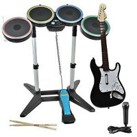 Rock Band 2 w/Mic, Guitar, and Drums