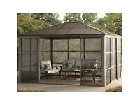 Sunjoy screen house gazebo canopy patio marquee party outdoor garden