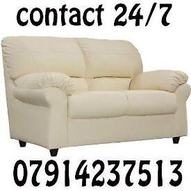 3&2 or Corner Leather Sofa Range Cash On Delivery 09876