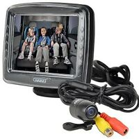 "Auto Back-up Camera w/Interior & Exterior Cameras & 3.5"" Monitor"