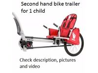 WEEHOO Child Bike trailer second hand working condition rain tent included