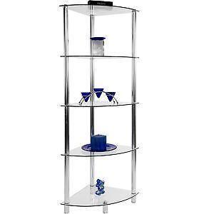 eckregale aus glas g nstig online kaufen bei ebay. Black Bedroom Furniture Sets. Home Design Ideas