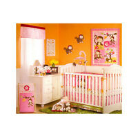 Mis Monkey Crib set, Mobile and window topper