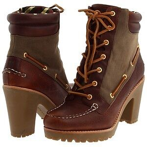 Sperry Lace Up Booties Perfect Condition!
