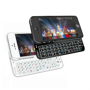 NEW Ultra Slim Slide-out Wireless Keyboard Case for iPhone 5