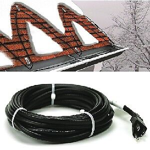 cable fil chauffant gouttiere toiture tuyau plomberie 110 volts