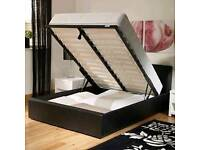 *DOUBLE LEATHER CHELSEA OTTOMAN BED AND MATTRESSES*