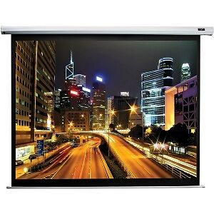 60 x 80 matte white electric projection screen with remote