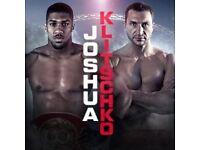 4x Joshua vs Klitschko tickets lower 143