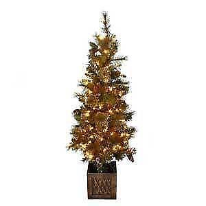 outdoor pre lit christmas tree - White Outdoor Christmas Tree