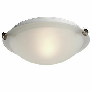 """Flush Mount Ceiling Light 12"""" - with Frosted Glass"""