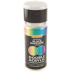 Hycote Vauxhall Black Sapphire (Pearl) 150ml Double Acrylic Spray Paint Aerosol
