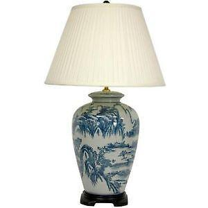Chinese lamp ebay blue white chinese lamps aloadofball Gallery