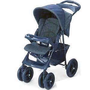 greco stroller in good condition with baby vibrating rocker