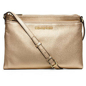 Michael Kors Gold Leather Crossbody