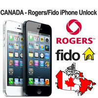 FACTORY UNLOCK IPHONE 4,4S,5,5C,5S,6,6+ ROGERS/FIDO SAME DAY