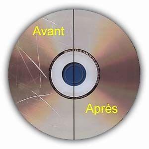 Réparation / Resurfaçage de CD - DVD - BlueRay - Jeux vidéo