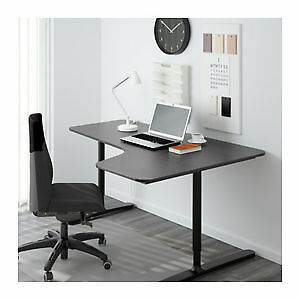 Corner desk-right,left  black-brown, black
