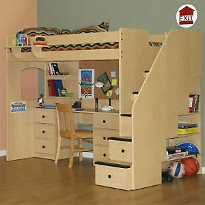 Storkcraft Bunk Bed with Stairs (also known as Loft Bed)