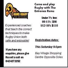 FREE REGISTRATION FOR 7 YR OLDS AND UNDER Bateau Bay Wyong Area Preview