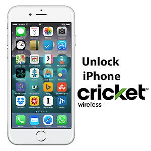 CRICKET IPHONE UNLOCK SERVICE Xs/ Xr/Xs Max/X/8 /8/7 /7/6S /6S/6/SE/5  - $13.55