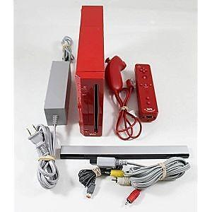 *****CONSOLE NINTENDO WII ROUGE A VENDRE / RED NINTENDO WII SYSTEM FOR SALE*****
