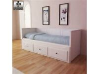 White Ikea hemnes day bed with mattresses