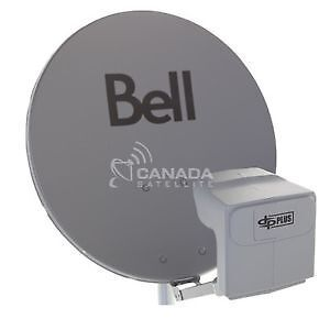 Bell satellite dish and dual horn
