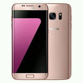 Samsung s7 edge pink/rose gold on EE £400 ono