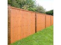 6ft (1.8m) Grange Feather Edge Fence Panels (Works With Wooden Or Concrete Posts)